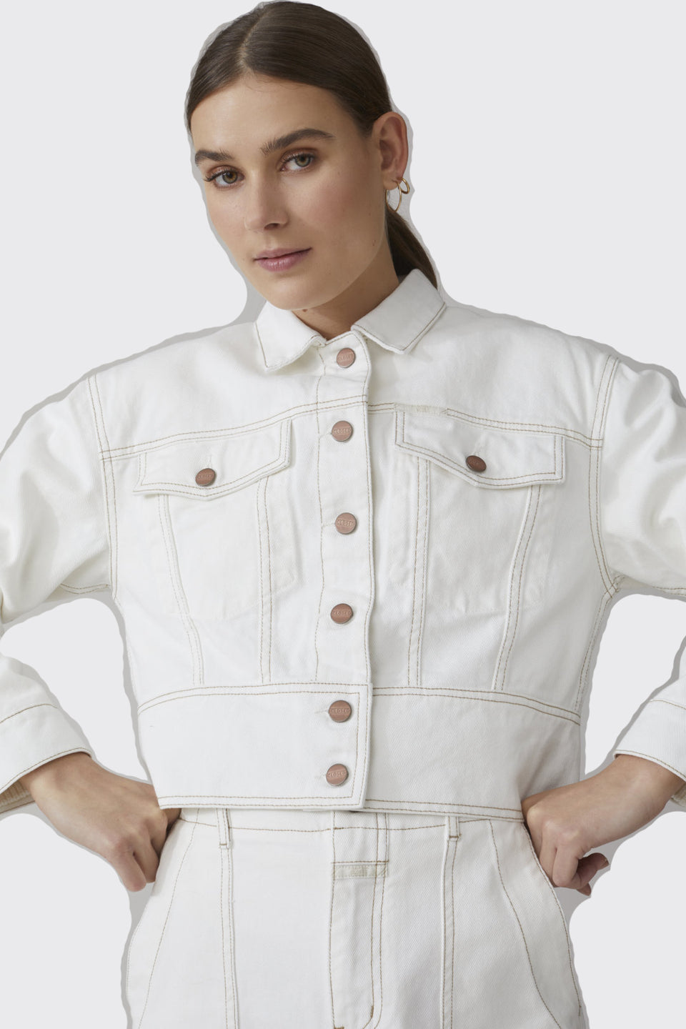 CLOSED • Veste Coton Twill Amaya Blanche