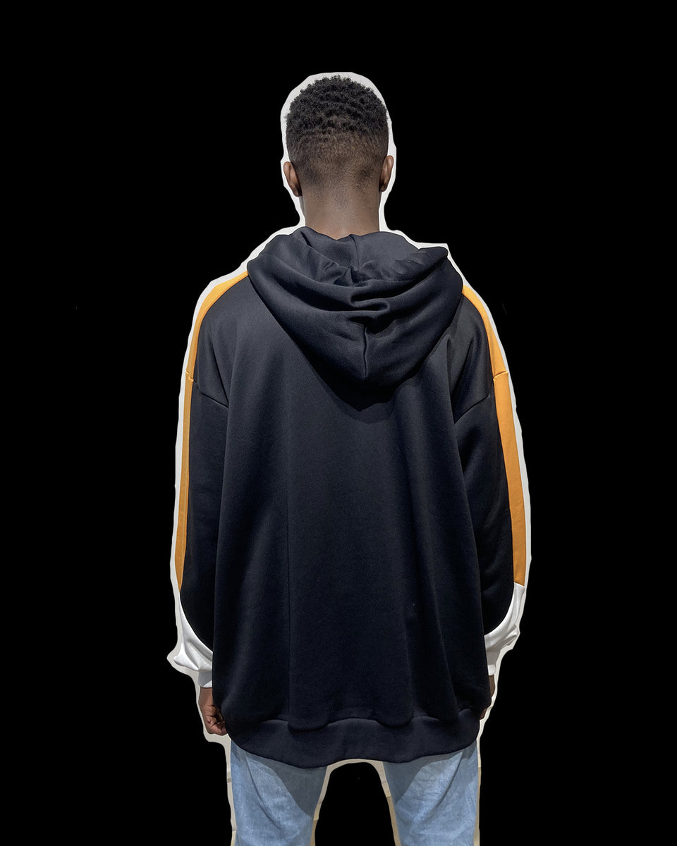 DAVID CATALAN • Sweat Hoodie Biker Oversize Noir