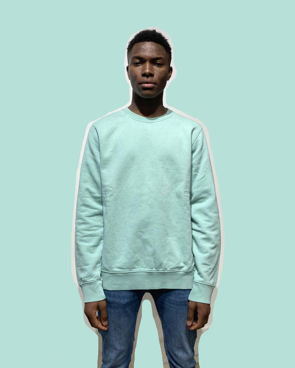 COLORFUL STANDARD • Sweat Crewneck Vert d'eau