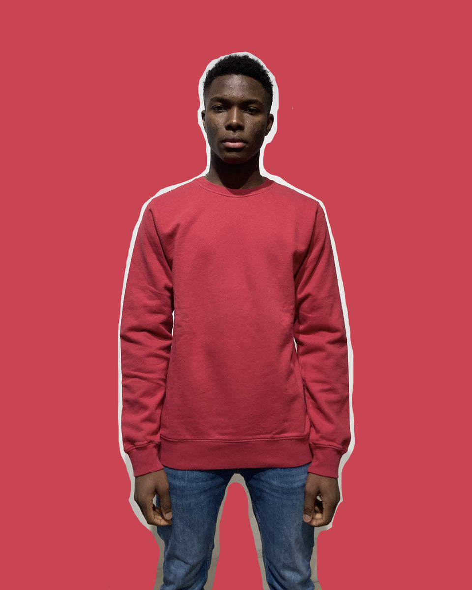 COLORFUL STANDARD • Sweat Crewneck Rouge