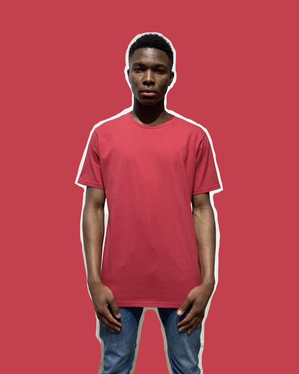 COLORFUL STANDARD • T-shirt Manches Courtes Rouge