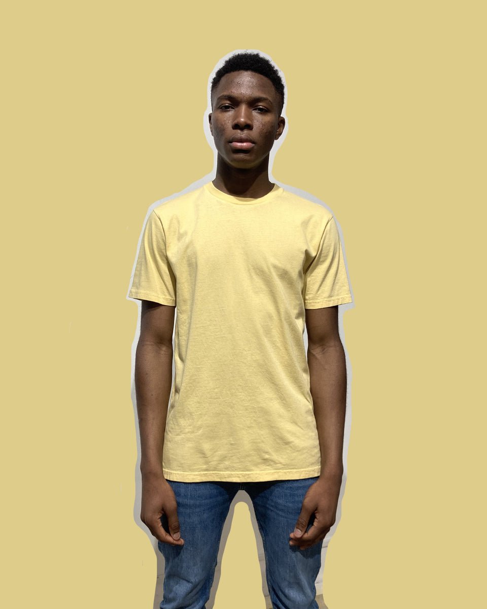 COLORFUL STANDARD • T-shirt Manches Courtes Jaune