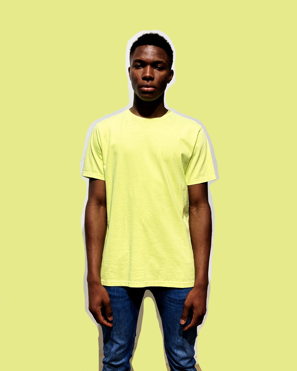 COLORFUL STANDARD • T-shirt Manches Courtes Jaune Néon