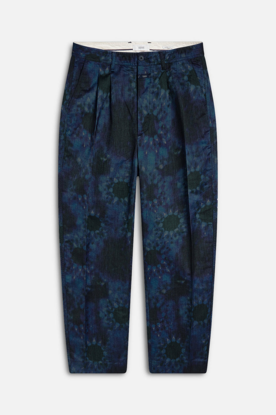 CLOSED • Pantalon Port Wide en Twill italien imprimé Bleu et Noir