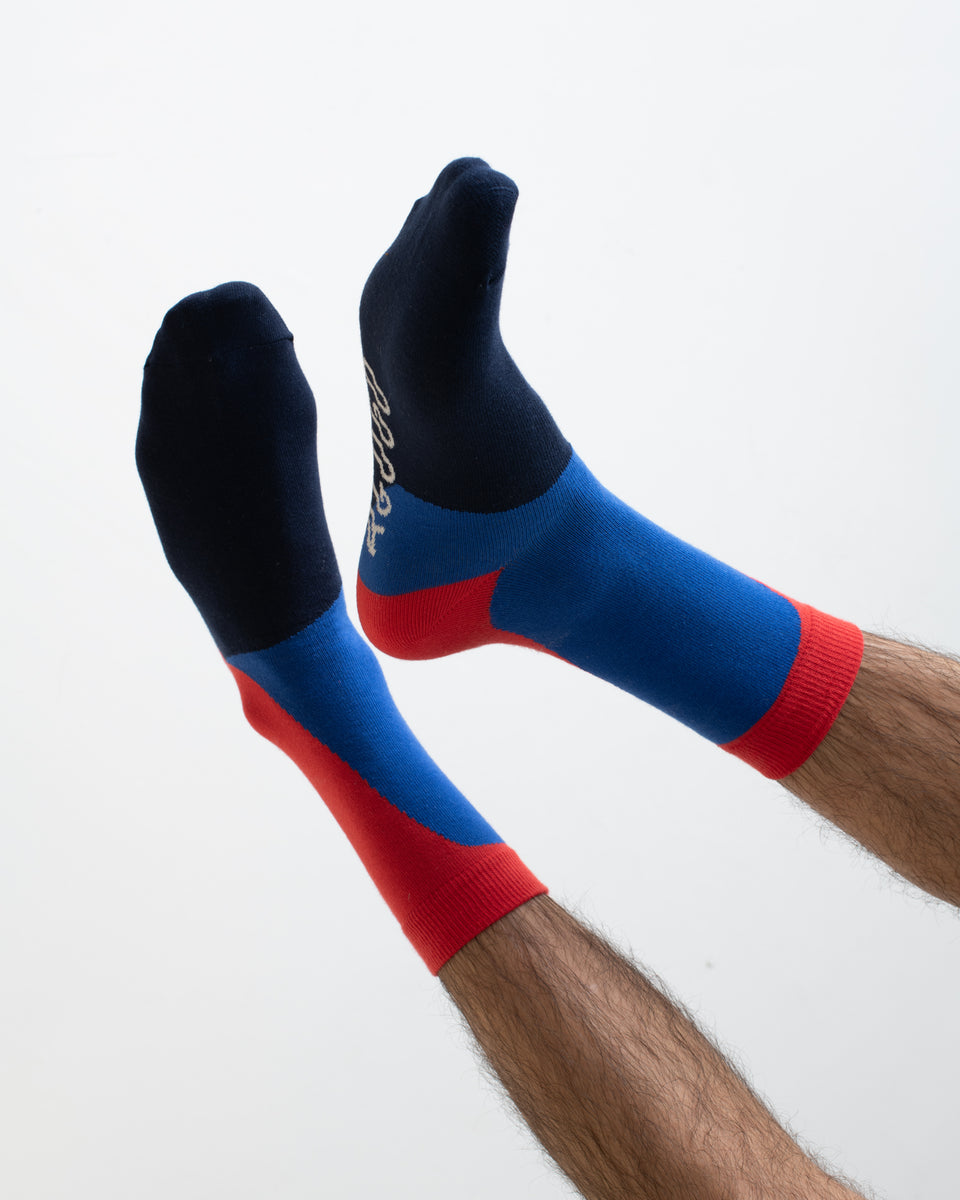 AGOGO • Chaussettes Tricolores BLULIGHT
