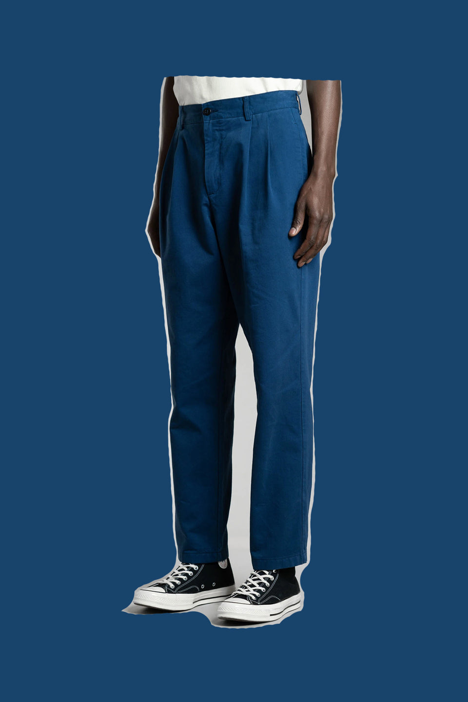 STAN RAY • Pantalon Double Pleat Chino Bleu