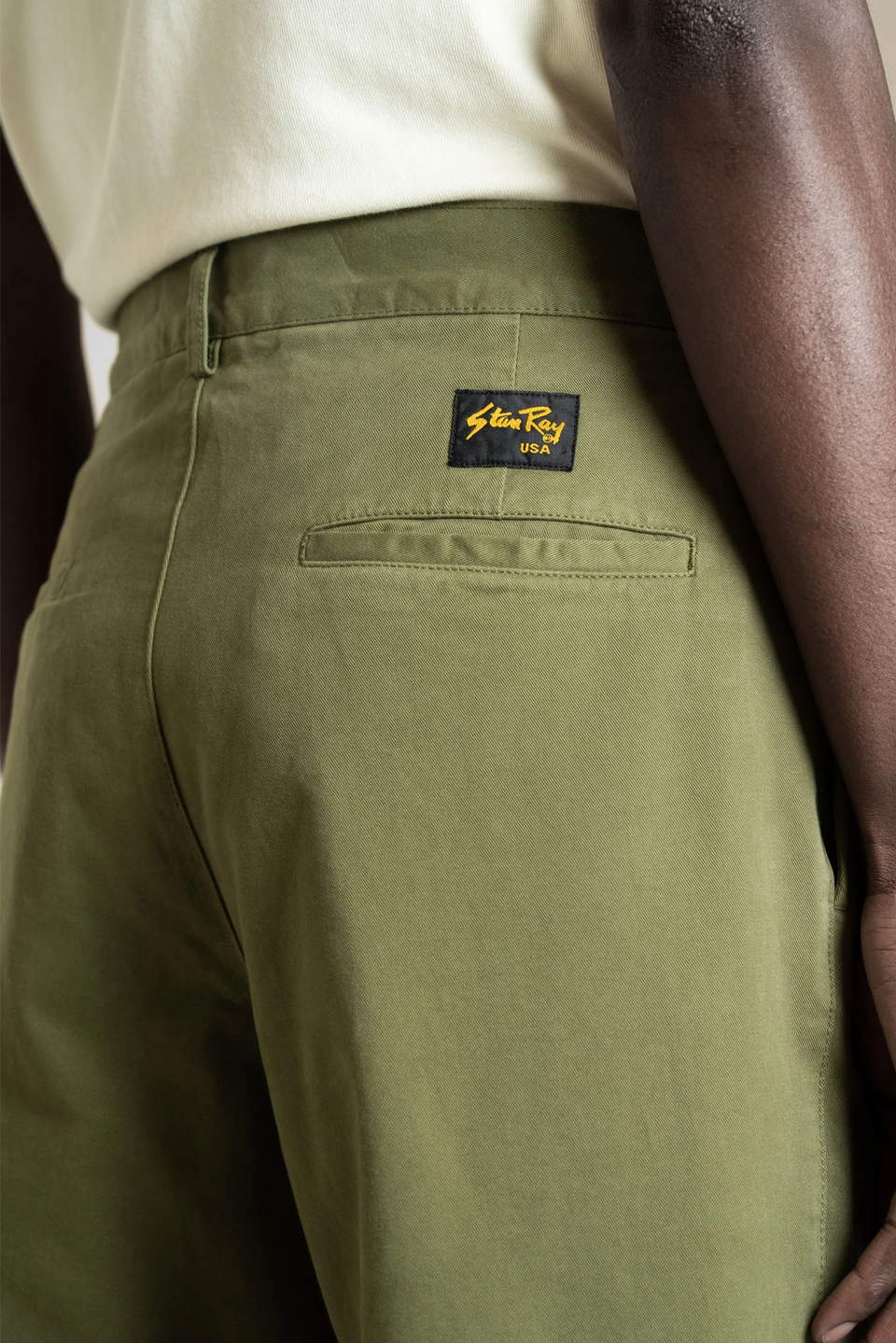 STAN RAY • Pantalon Double Pleat Chino Olive