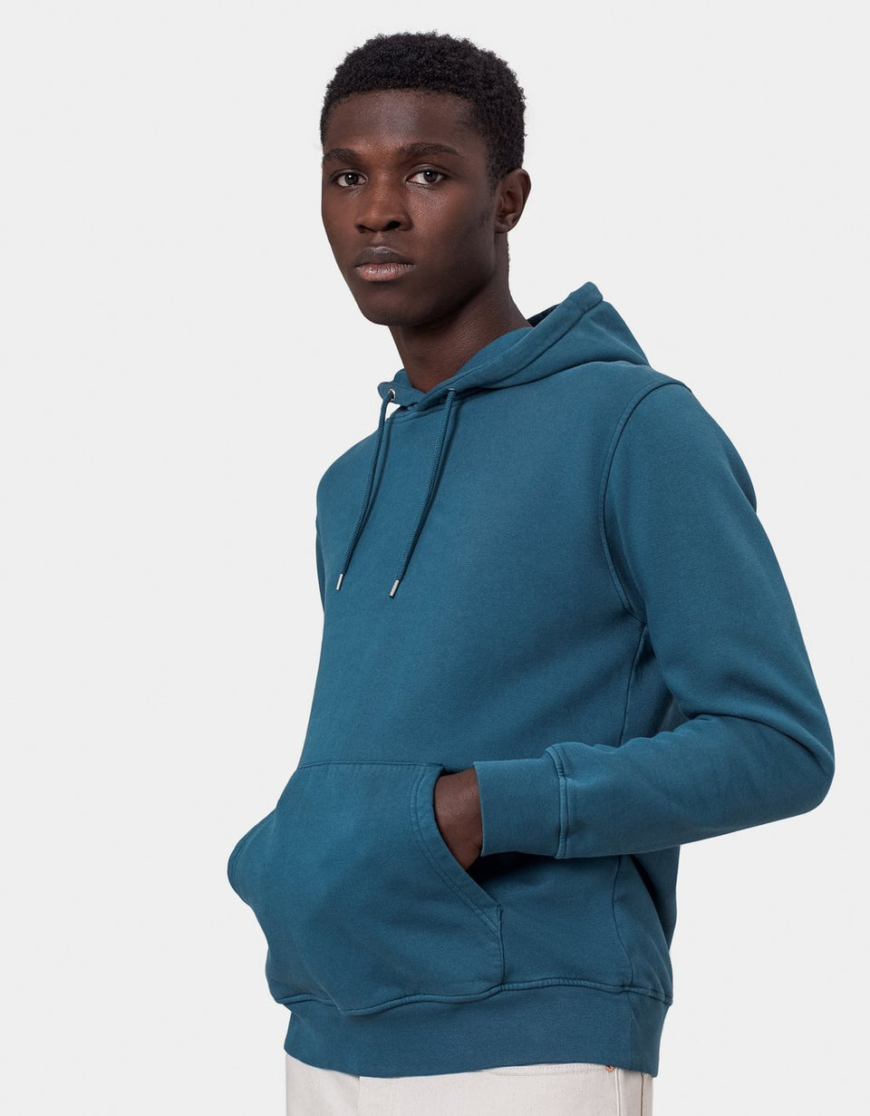 COLORFUL STANDARD • Sweat Hoodie Bleu Stone