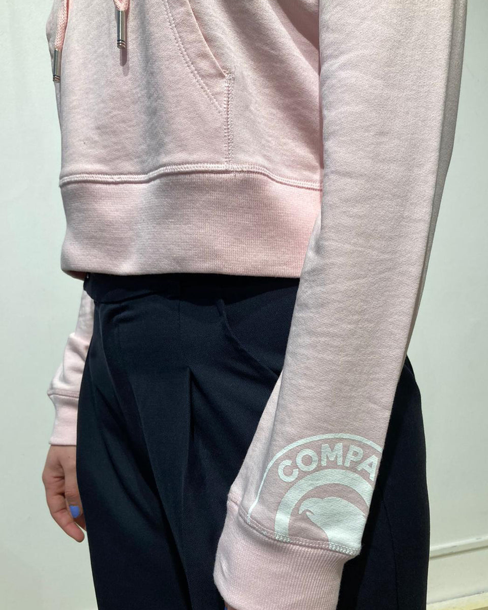 COMPAGNIE DE CALIFORNIE • Sweat Arcadia Cropped à Capuche Rose