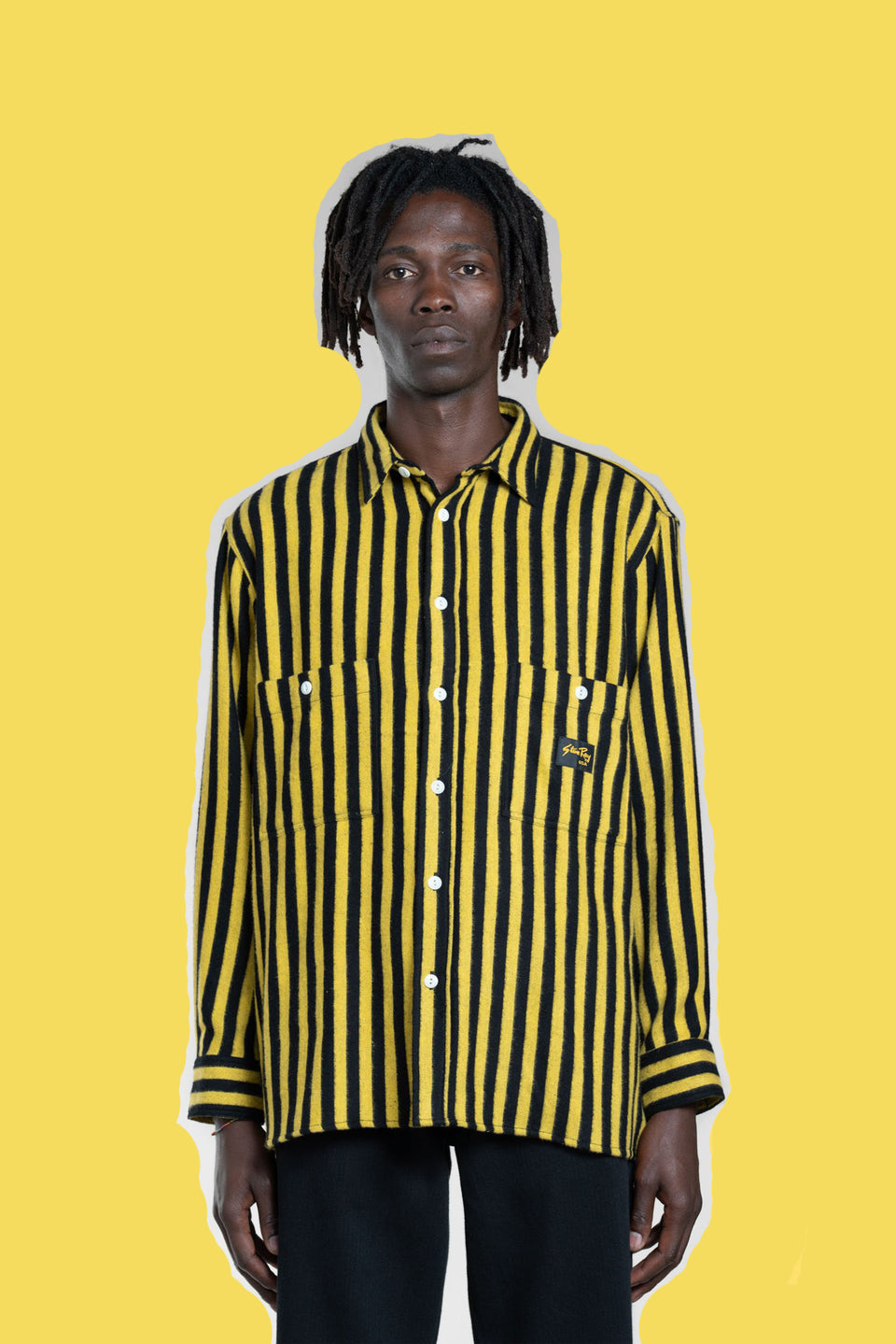STAN RAY • Chemise Flannel Rayures Jaune/Noire