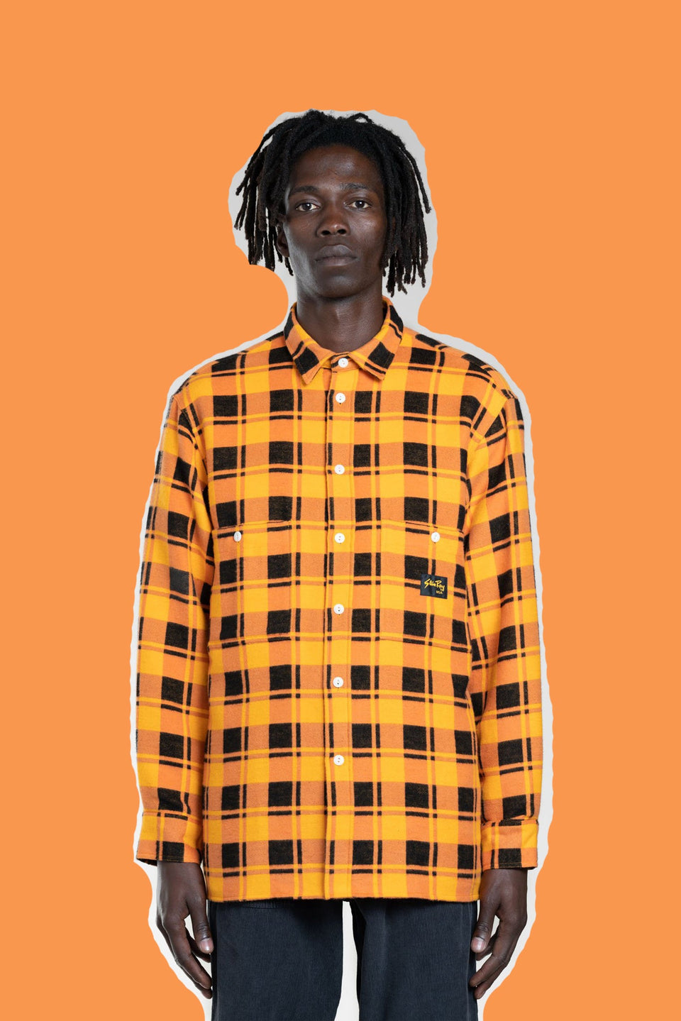 STAN RAY • Chemise Flannel Carreaux Orange
