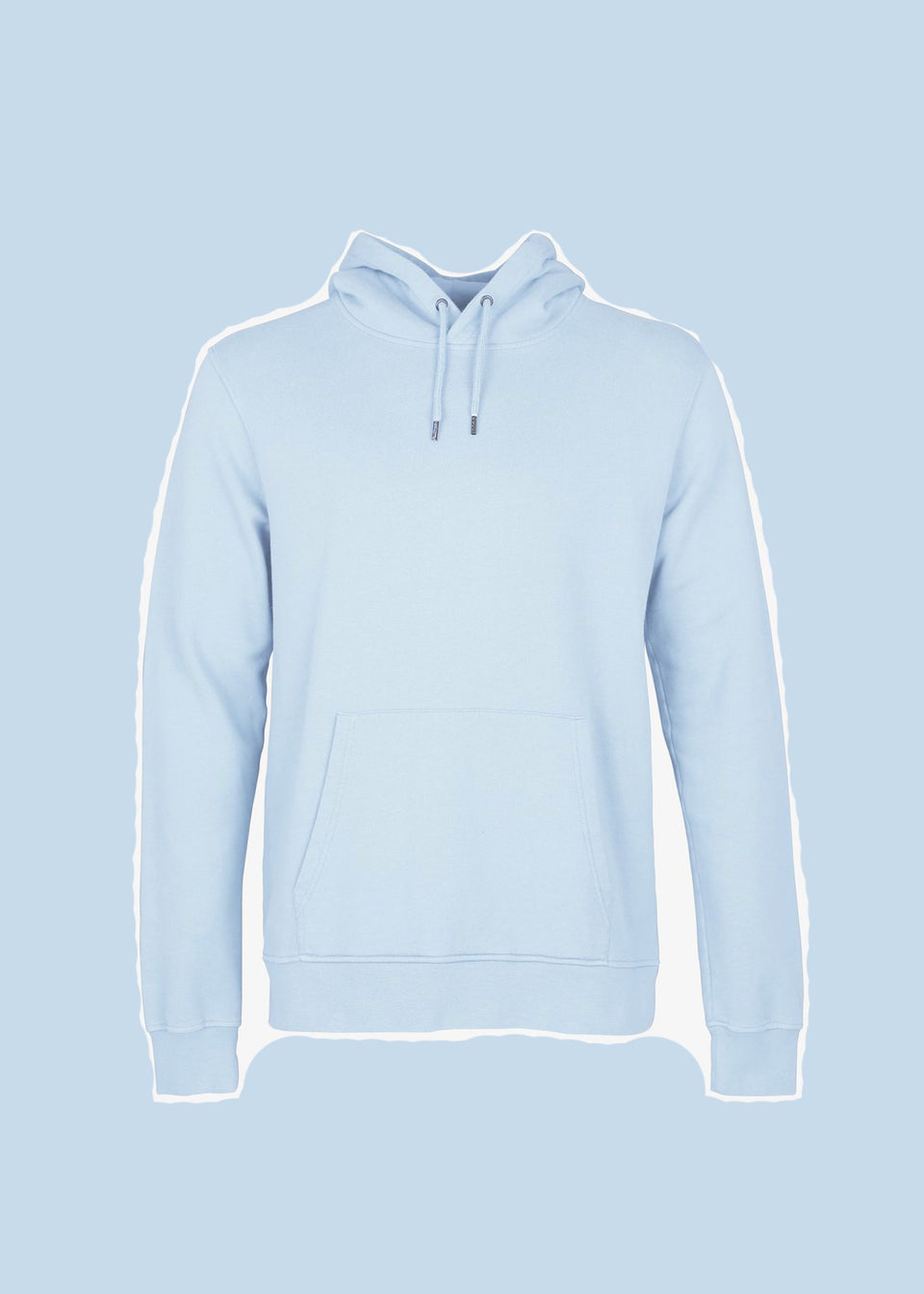 COLORFUL STANDARD • Sweat Hoodie Bleu Polar