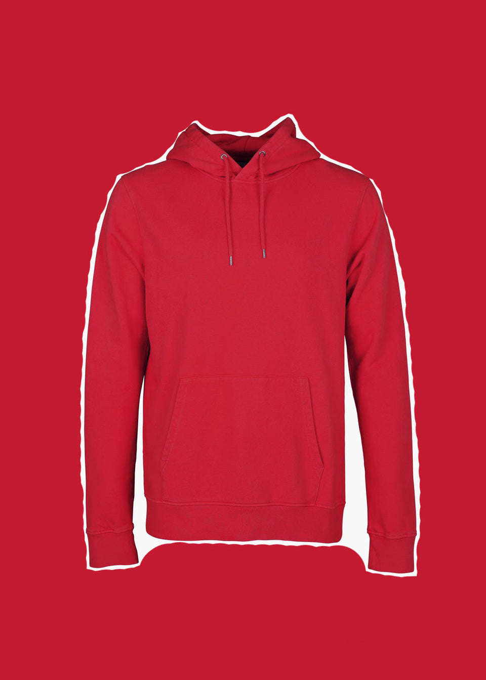 COLORFUL STANDARD • Sweat Hoodie Rouge