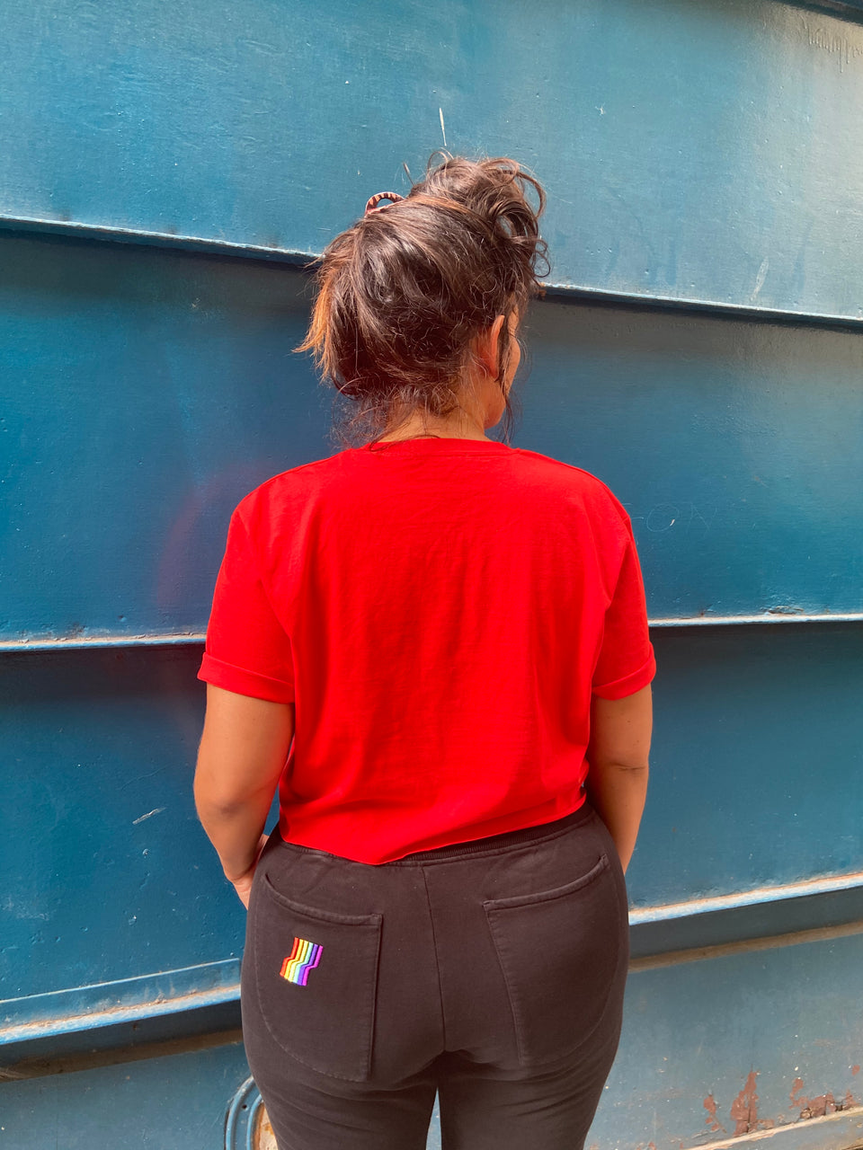 AGOGO • Crop Top Basic Logo Rouge