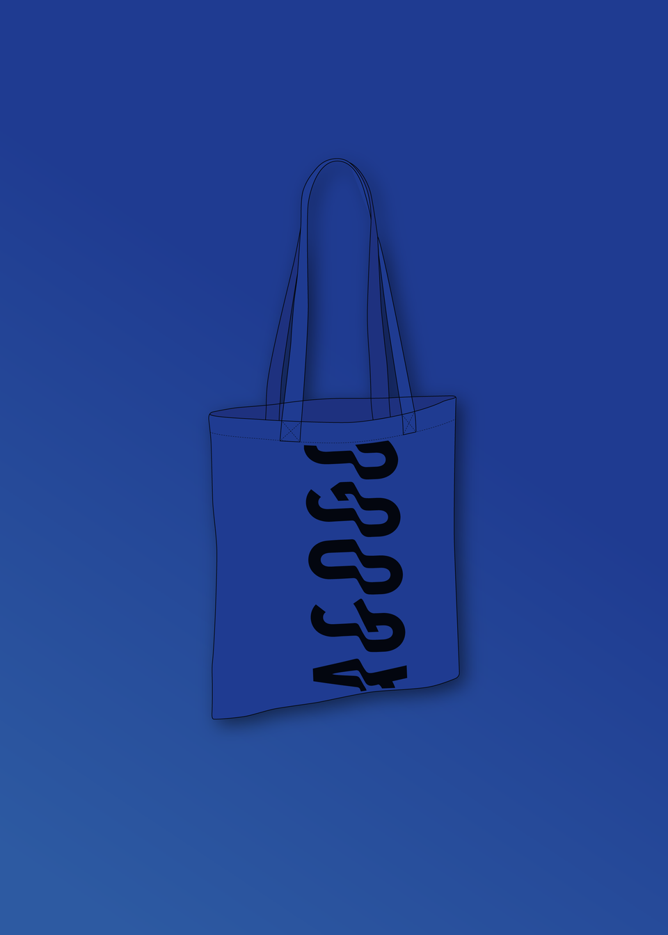 AGOGO • Tote Bag Bleu Royal