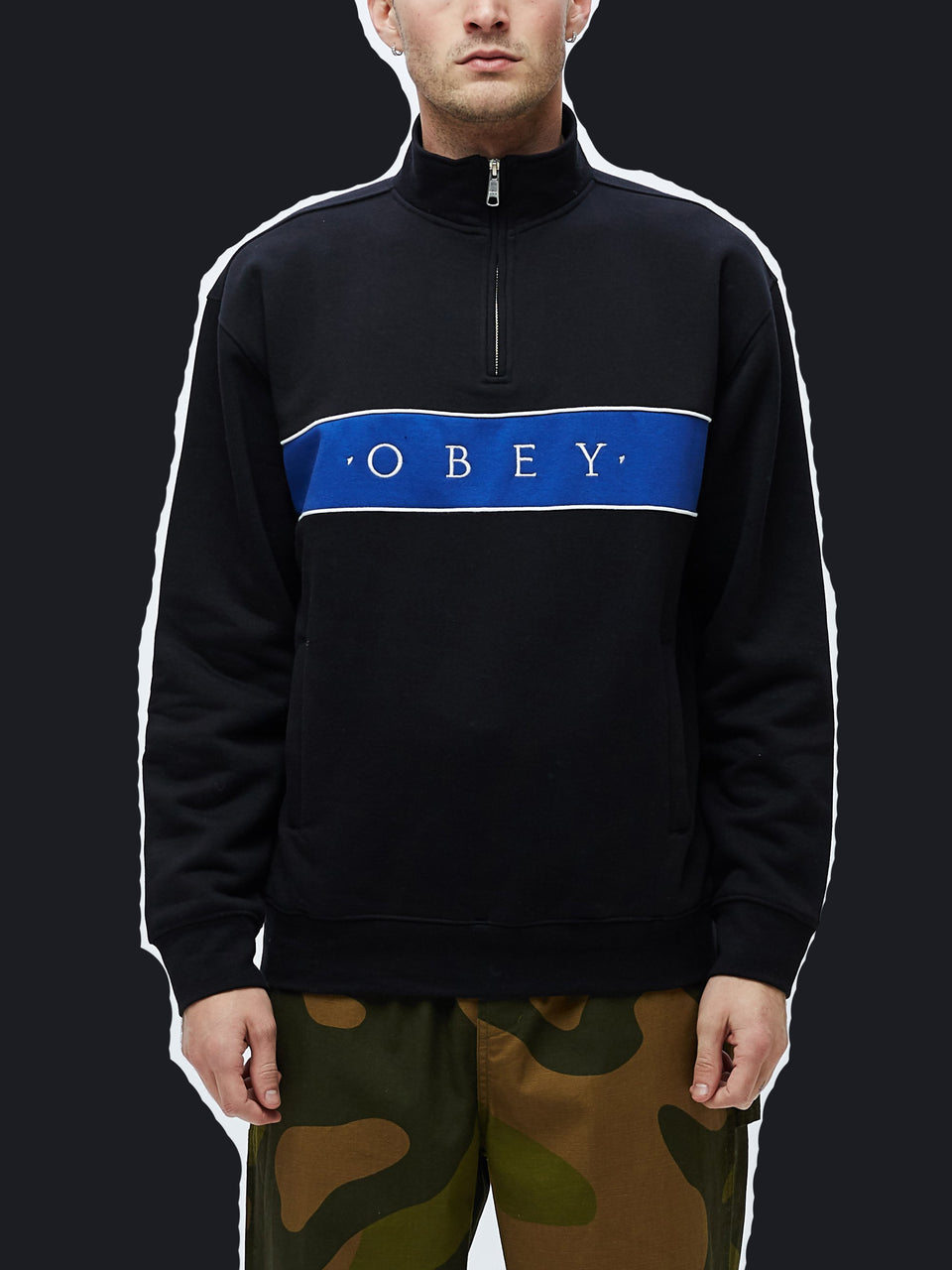 OBEY • Sweat zip Deal Noir