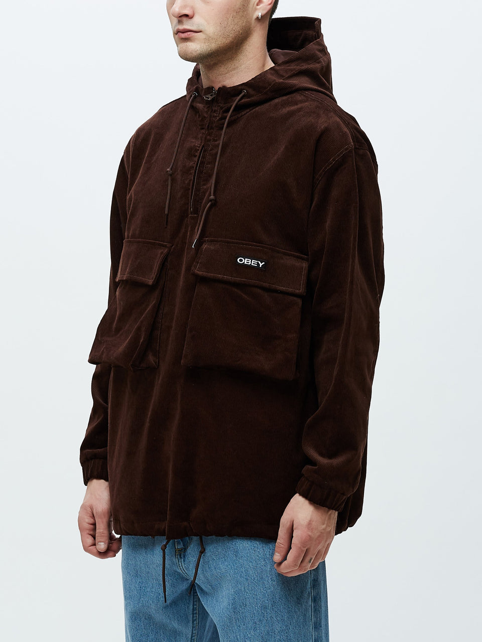 OBEY • Veste Shiner Anorak Marron