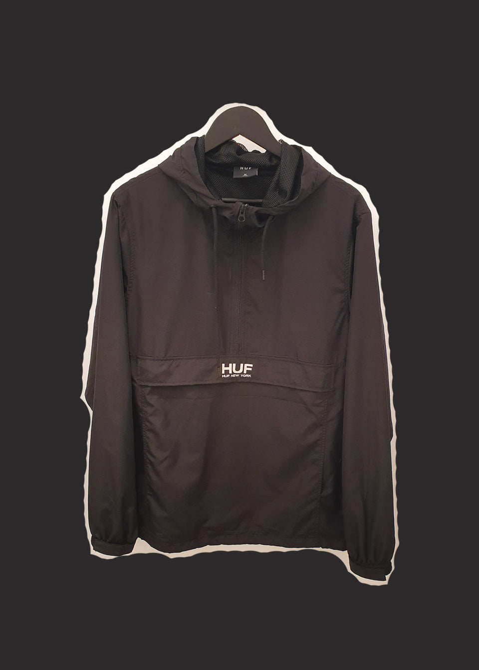 HUF • Coupe Vent Enfilable Anorak Noir
