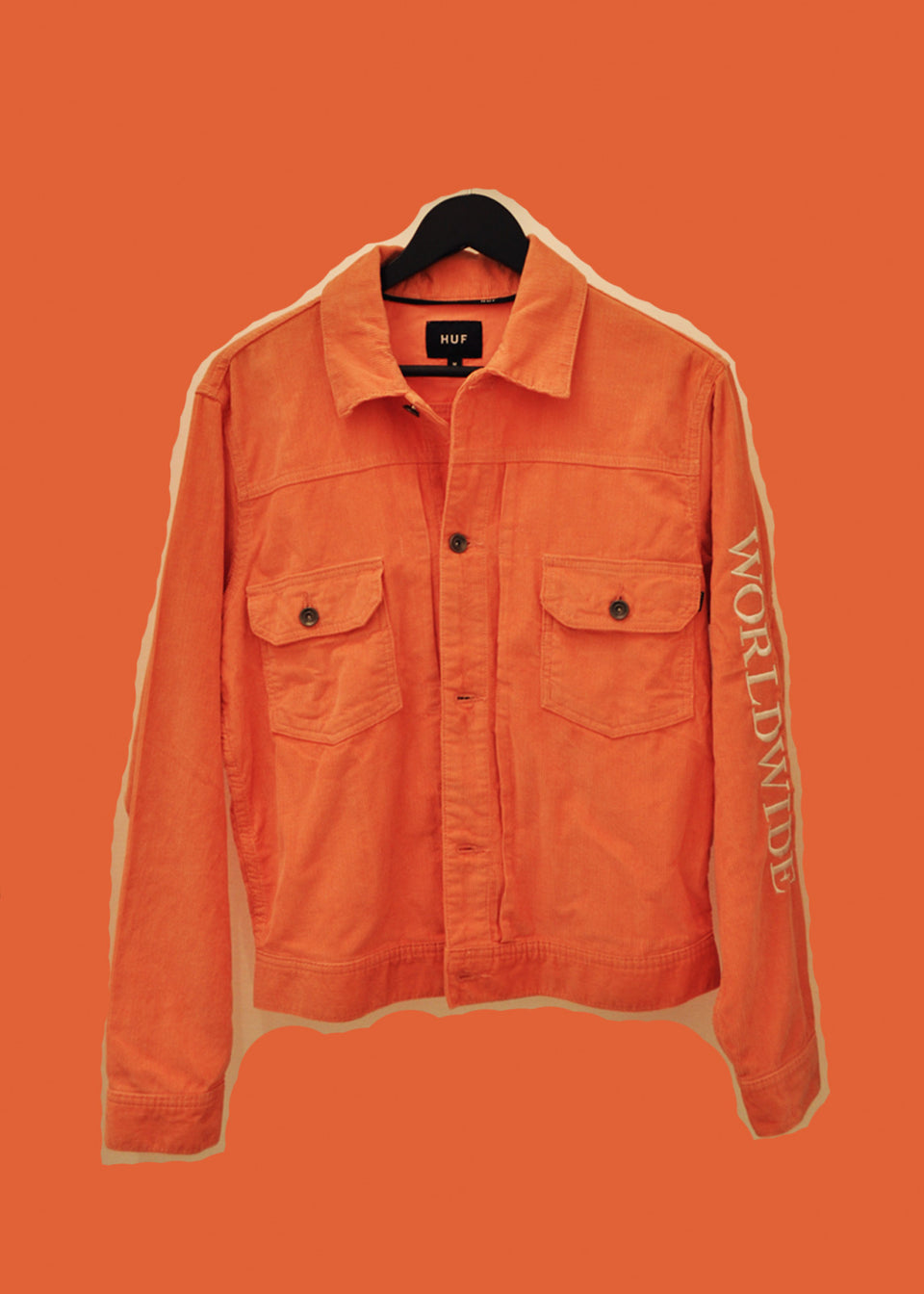 HUF • Veste Velours Côtelé Orange