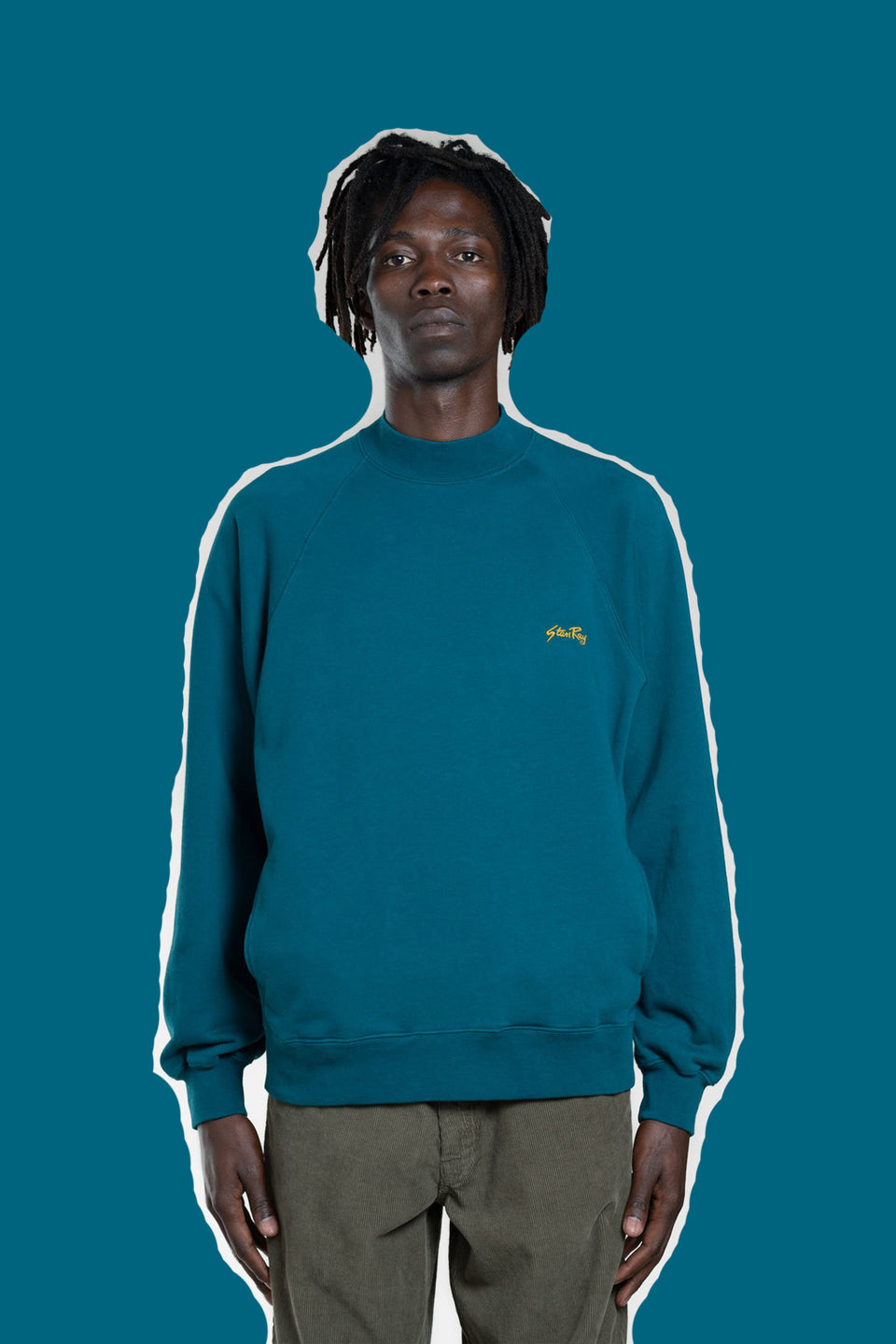 STAN RAY • Sweat Roll neck Vert