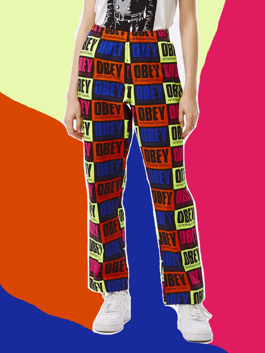 OBEY • Pantalon Splash Multicolore