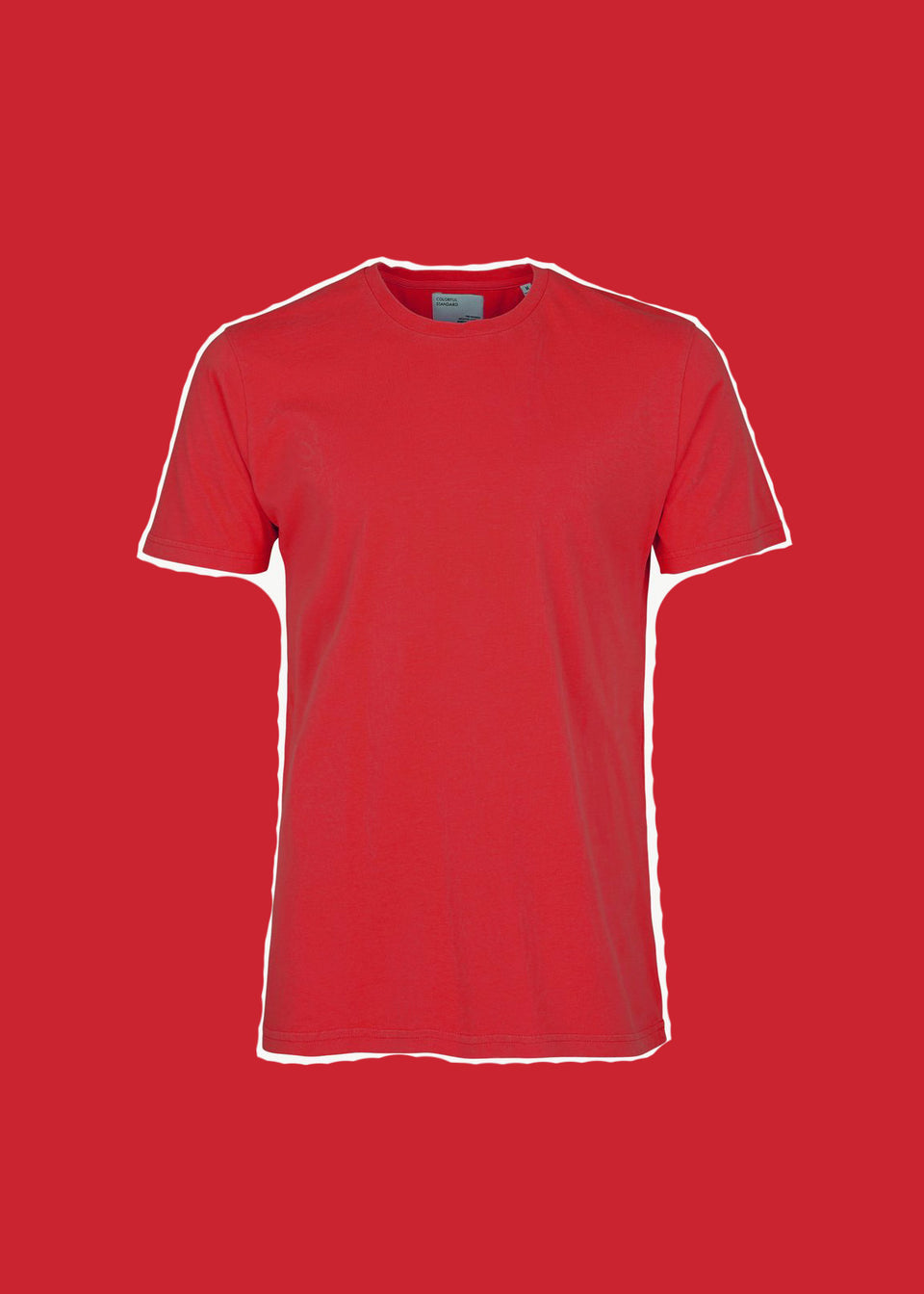 COLORFUL STANDARD • T-shirt Coton bio Rouge