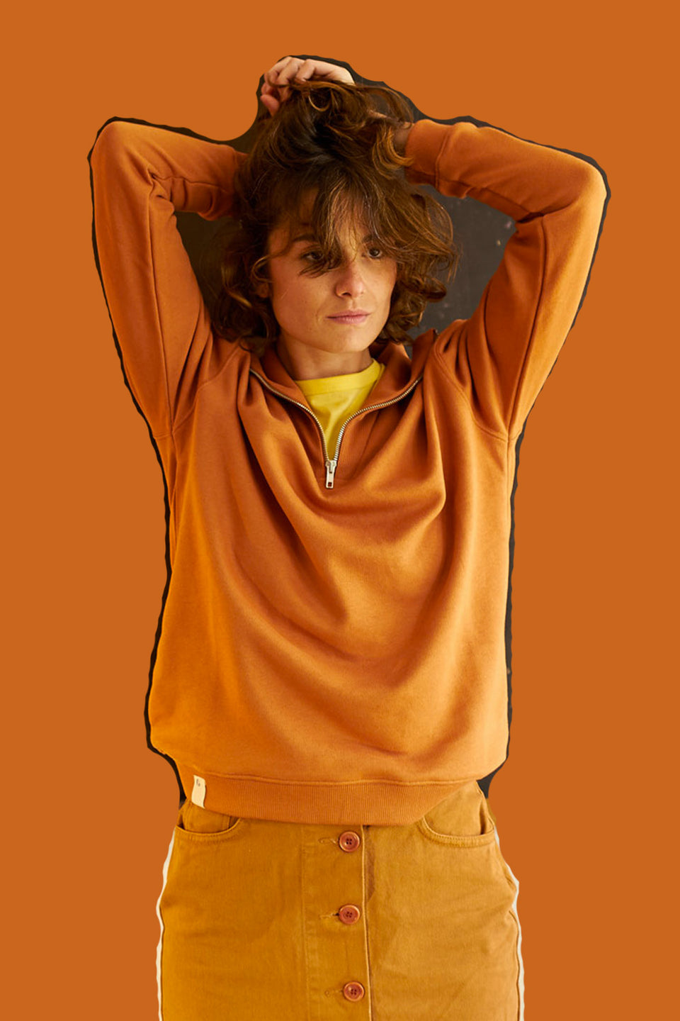 GRAINE • Sweat Choux Tuolo Camel