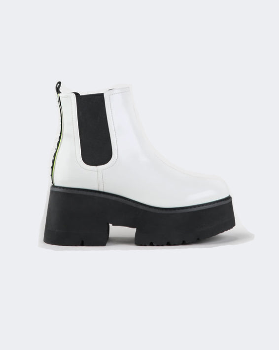 BUFFALO • Bottines Fita Blanches
