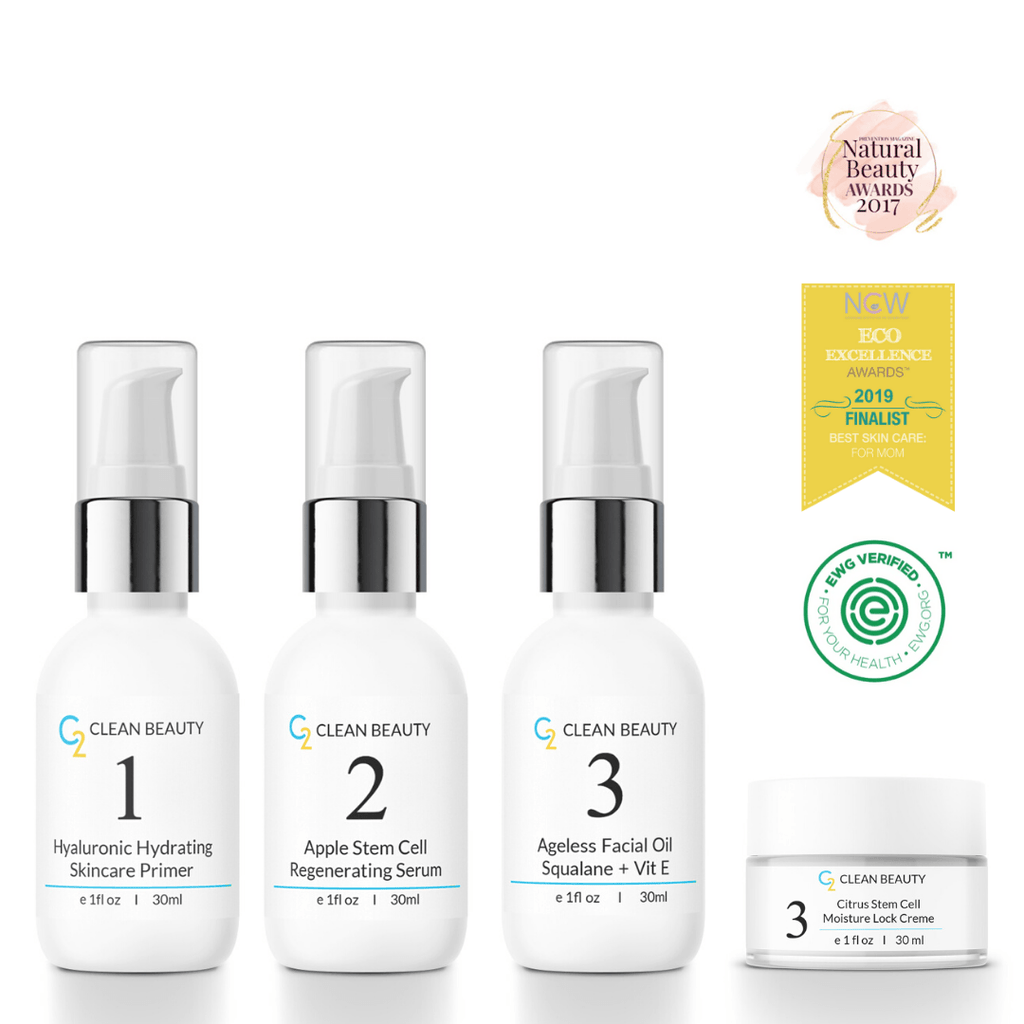 Skin Transformation Kit (HA Primer, Serum, Squalane + Vit E Oil and Citrus Moisture Lock Creme) - Glory Skincare