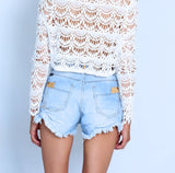 Vibe High Waisted Denim Shorts