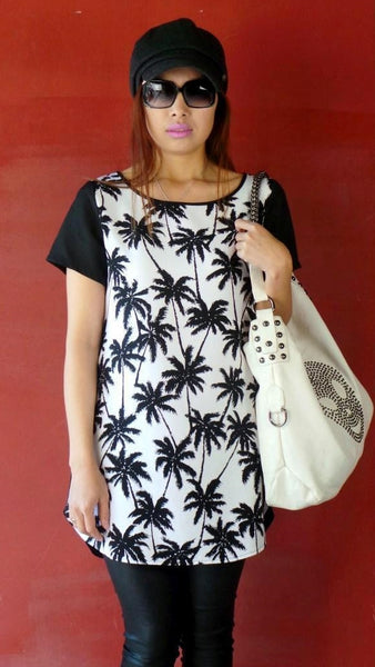 Palm Tree Tunic by Vangelica