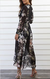 Holly Wrap Maxi Dress CLEARANCE