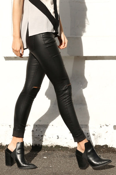Riptide Jeans Leather Look by Wilde Heart