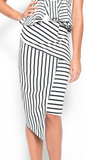 Prism Stripe Asymmetrical Skirt