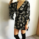 Ava Bell Sleeve Playsuit CLEARANCE