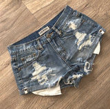 Wakee Summer Distressed Short Dark Colourway