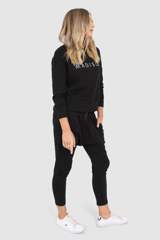 Madison Slouch Pants - Black