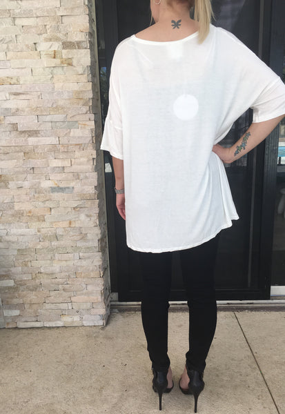 Slouchy Tee - Off White