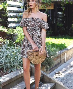 Costa Rica Mini Dress / Animal Print CLEARANCE
