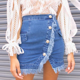 Bambi Skirt - Blue Denim