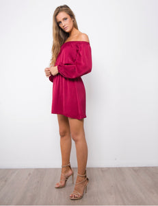 Auguste Dress - Red CLEARANCE
