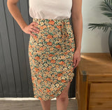 Side Gather Skirt - Daisy CLEARANCE
