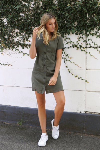 Nelly Dress - Khaki