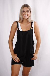 Sandy Short Overalls - Black
