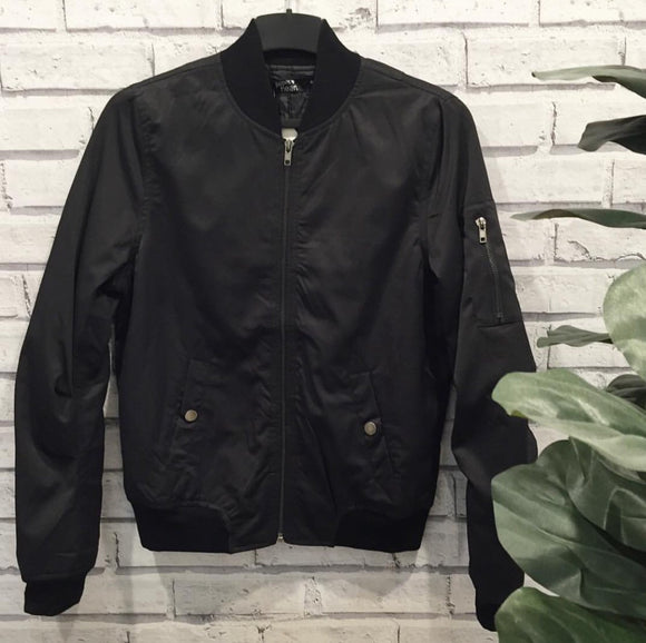 Bombs Away Bomber Jacket || Black