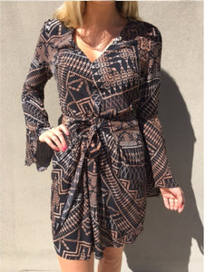 Aztec Wrap Dress CLEARANCE