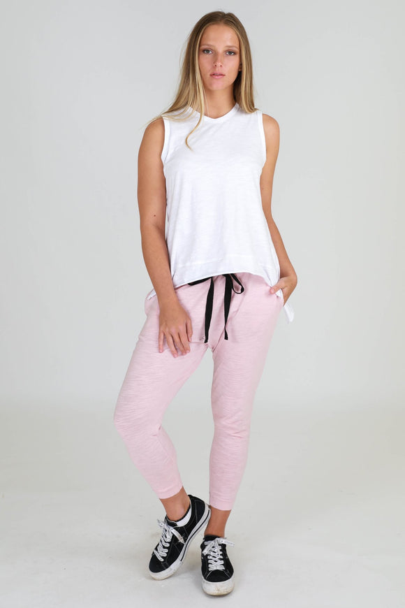 Bondi Slouch Pants - Blush Marle (3rd Story The Label)
