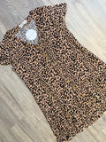 Animal Drop Hem Dress