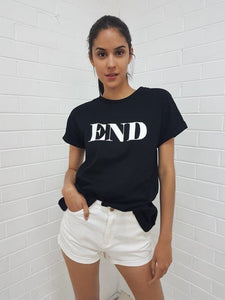 End Tee - Black CLEARANCE
