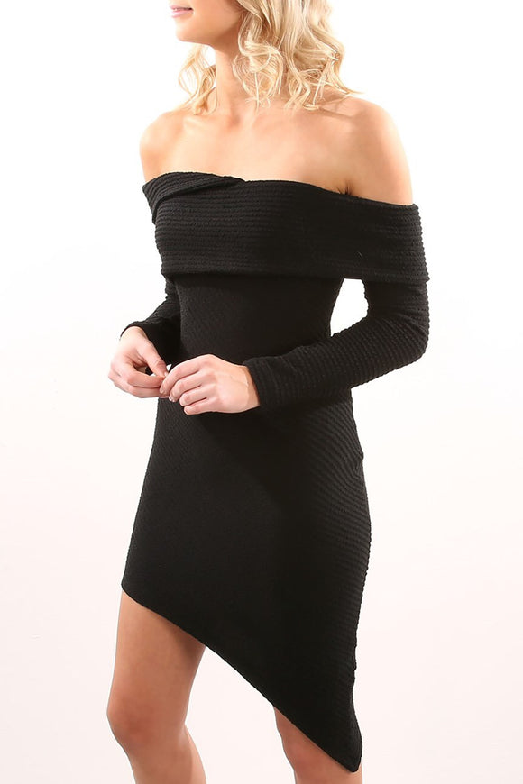 Axis Dress - Black CLEARANCE